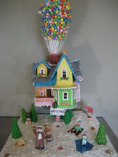 Pixar's Up Gingerbread house - 2009 by Stephanie (Cake Fixation), via Flickr