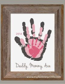 Baby crafts For Grandparents - Family House Footprint Wall Art 802 pap Family Crafts, Baby Crafts, Crafts To Do, Crafts For Kids, Summer Crafts, Craft Gifts, Diy Gifts, Daddy Day, Creation Deco