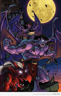 In Gargoyles was one of the biggest Disney cartoon shows ever produced… 90s Cartoons, Disney Cartoons, Thundercats, Gargoyles Cartoon, Disney Gargoyles, Gargoyles Characters, Gargoyles Tv Show, Goliath Gargoyles, Kamigami No Asobi