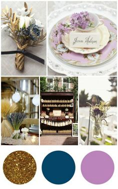 I love this palette. Gold, Navy, and Lavender. :)