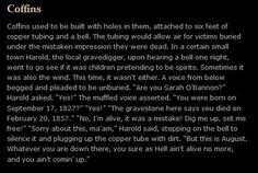 Harold hears a coffin bell....