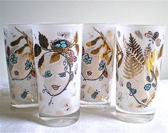 intage Glasses, Retro Barware, Frosted, Wood Sprites, $12.00 USD          PayPal and Credit Cards    Have a question?        Contact the shop owner      View shop policies    About this item    Vintage from the 1960s  Style    Retro, Mid Century  Tags  Vintage Housewares Glass barware retro 1960s sixties fifties 1950s iced tea vintage glasses bar glasses woodland drink glasses whimsical tumblers wood sprites frosted glasses  Materials  drinking glasses glass barware        Listed on Oct 26, 2011      Listing # 81550141      Report this item to Etsy    $23.95