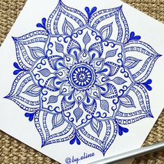 « beautiful blue mandala by @by.eline btw !! go follow our cool hippy style page @hippiesoullx // comment when done for a shout out x »