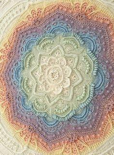 Mandala Madness pattern by Helen Shrimpton knitted ideas Mandala Madn . Mandala Madness pattern by Helen Shrimpton knitted ideas Mandala Madness pattern by Helen Crochet Afghans, Motifs Afghans, Afghan Crochet Patterns, Crochet Squares, Crochet Doilies, Crochet Stitches, Crochet Blankets, Throw Blankets, Knitting Patterns