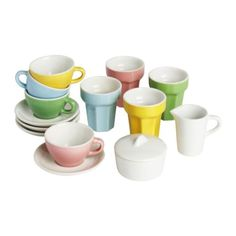 $9.99 To go with kitchen play set- DUKTIG 10-piece coffee/tea set IKEA Encourages role play; children develop social skills by imitating grown-ups and inventing their own roles.