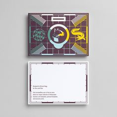 Postcard template designed by Richard Hogg for Strut and Fibre's Ambassador Collection.