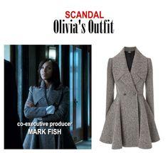 "On the blog: Olivia Pope's (Kerry Washington) gray herringbone flared coat | Scandal 409 - ""Where the Sun Don't Shine"" #tvstyle #tvfashion #outfits #fashion #gladiators #TGIT"