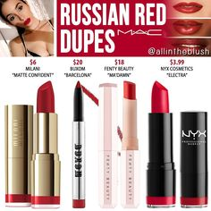 ❤️RUSSIAN RED DUPES❤ from MAC Cosmetics