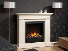 Kos - Electric fireplace with a classic design