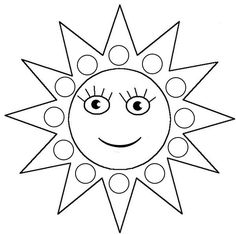 √ Sun Coloring Pages . 6 Sun Coloring Pages . Mercury is the Closest Planet to the Sun Coloring Page Sun Coloring Pages, Coloring Sheets, Coloring Books, Finger Painting, Dot Painting, Summer Preschool Themes, Do A Dot, Puffy Paint, Color Games