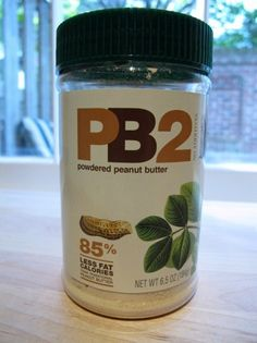 peanut butter powder - oh baby! mix it with water and it is VERY much like regular peanut butter - only with a quarter of the calories.peanut butter recipes, here I come! Pb2 Powdered Peanut Butter, Peanut Flour, Peanut Butter Recipes, Smoothie Drinks, Smoothies, Weight Watcher Dinners, Best Protein, How To Make Cookies, Eat Right