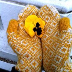 hand knitted fair isle mittens