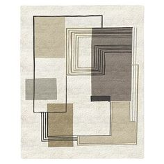 Abstract Lines Special Order Wool Rug - Stone (4-Week Delivery) #westelm