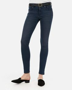 4552afc3cf09b5 Express High Waisted Perfect Curves Dark Wash Jean Leggings in 2019 ...