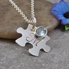 Autism Jewelry  Hand Stamped Jewelry  by DesignsbyDaniella on Etsy