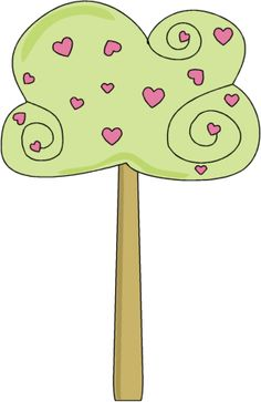Modern Tree Clip Art   Heart Clip Art