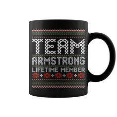 Team Armstrong Lifetime Member Ugly Christmas mug