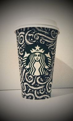inspired to make Stabucks coffee cup art 2012