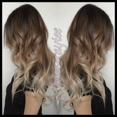 Deseray Thiessen, in love with this contrast on this ombre.  Darkened the roots , lightened the ends and toned to this beautiful ash blonde. Follow my Instagram @deseraytee