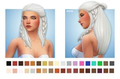 """SIVIR HAIR Edit of hairstyle from Cats&Dogs • More volume • Longer • Double braid """"◊ You'll need Cats&Dogs ◊ Base game swatches + 17 custom colours ◊ Custom thumbnail """" [[MORE]]DOWNLOAD"""