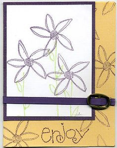 Sew Seasonal Flowers by florida_scrapper - Cards and Paper Crafts at Splitcoaststampers