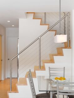A Small Lake House contemporary staircase