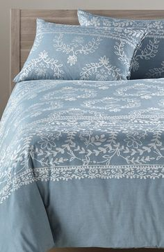 Nordstrom at Home 'Trompe l'Oeil' Jacquard Duvet Cover available at #Nordstrom