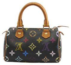 Louis Vuitton Mini Sac Hl Speedy Black Monogram Canvas (72761) Multicolore Tote Bag. Get one of the hottest styles of the season! The Louis Vuitton Mini Sac Hl Speedy Black Monogram Canvas (72761) Multicolore Tote Bag is a top 10 member favorite on Tradesy. Save on yours before they're sold out!