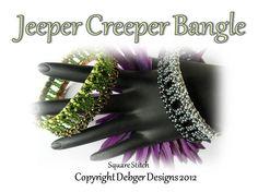 Jeeper Creeper Bangle  Tila PatternTutorial by DebgerDesigns, $6.50