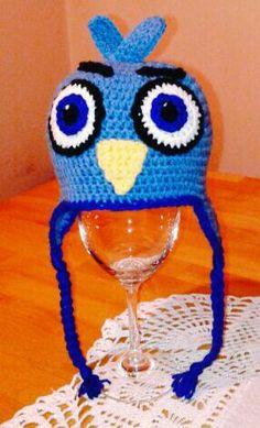 Crochet baby angry bird hat
