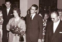 King Baudouin and Queen Fabiola in the Ostend Kursaal