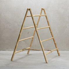 Porte-serviettes pliant en bambou 4 niveaux Tine K Home