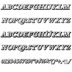 Papillons Outline Italic Font