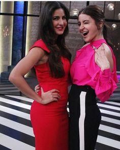 Kat and Anushka pose on the sets of Koffee With Karan. @bollywood   . . . #bollywood #anushkasharma #katrinakaif
