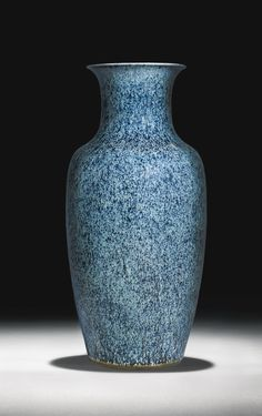 A RARE 'LAZURITE'-SPLASHED VASE<br>QING DYNASTY, 18TH CENTURY | Lot | Sotheby's