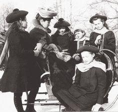 The Romanovs: Alexandra and OTMAA (Olga, Tatiana, Maria, Anastasia, and Alexei).