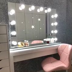 Ad - We're loving dressing room featuring our Scarlett Hollywood Mirror. ✨ Makeup Mirror with Lights Hollywood Mirror Ikea, Hollywood Mirror With Lights, Dressing Table Decor, Dressing Table Mirror, Dressing Room, Lights Around Mirror, Makeup Mirror With Lights, Teen Room Decor, Room Decor Bedroom