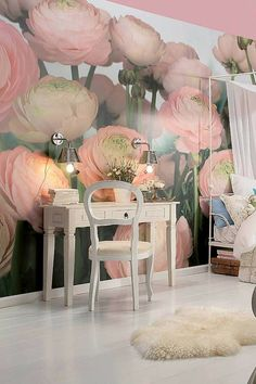 Peony papered walls...wow!