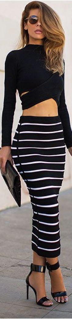 Stripes, Glamour, Skirts, Women, Fashion, Female Tattoos, Feminine, Moda, Skirt