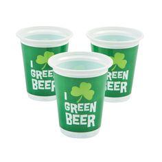 Green Beer Cups