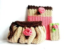 (4) Name: 'Crocheting : Blossoming Buttons Set