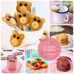 16 recetas de galletas para niños, ¡os conquistarán! Cookie Desserts, Cookie Jars, Cupcake Cakes, Cupcakes, Kids Meals, Snacks Kids, Cake Pops, Goodies, Place Card Holders
