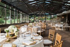 Elegant wedding with outdoor views at Ramey Country Club in Ramsey, NJ