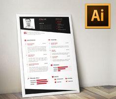 """Popatrz na ten projekt w @Behance: """"Resume Template"""" https://www.behance.net/gallery/23279453/Resume-Template"""