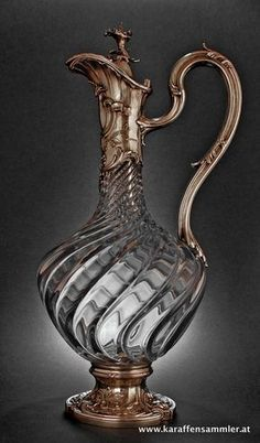 attributed to Koch & Bergfeld, Bremen - 1890 Antique Bottles, Vintage Bottles, Antique Glass, Antique Silver, Vintage Perfume, Cut Glass, Glass Art, Art Nouveau, Art Vintage