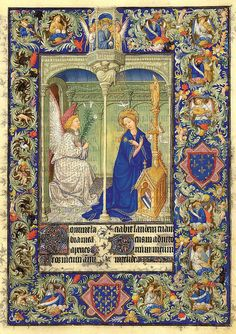 La Anunciacion-Belles Heures of Jean de France duc de Berry-Folio 30r-