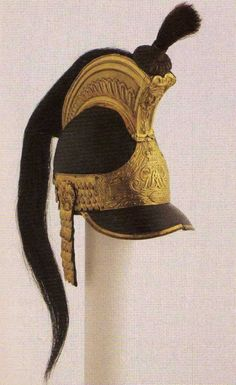 An original Household cavalry helmet worn at Waterloo