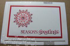Snowflake Soiree, Stampin' Up! Christmas Card www.deniseibbett.stampinup.net