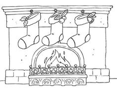 Stockings by the fire coloring page. A warm and cozy Christmas scene for you to… Free Coloring Sheets, Cool Coloring Pages, Printable Coloring Pages, Adult Coloring Pages, Coloring Books, Unique Christmas Cards, Christmas Scenes, Christmas Colors, Cozy Christmas