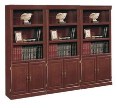 Sauder Heritage Hill 3 Shelves Wall Bookcase With Cabinet In Cherry Http